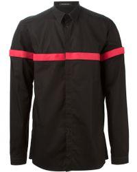 Nicolas Andreas Taralis - Detachable Velcro Stripe Shirt - Lyst