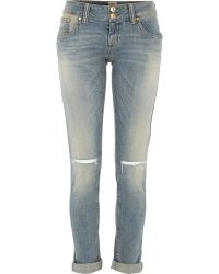River Island Mid Wash Ripped Knee Matilda Skinny Jeans - Lyst