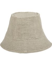 Barneys New York Linen Cloche Sunhat - Lyst