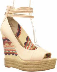 Rachel Roy Shifali Platform Wedge Sandal - Natural