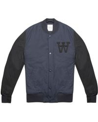 WOOD WOOD | Blue Billie Varsity Jacket | Lyst