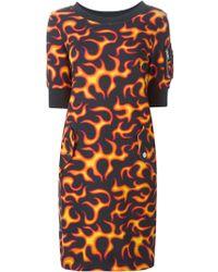 Love Moschino Flame Print Dress - Lyst