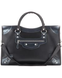 Balenciaga Giant 12 City Leather Tote black - Lyst