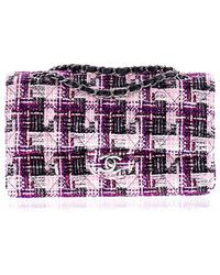 Chanel | Pre-owned: Multi-colored Tweed Medium Double Flap Bag | Lyst