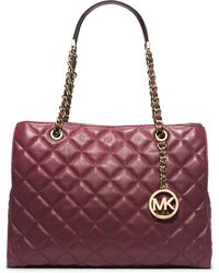 Michael by Michael Kors Susannah Quilted Leather Tote Bag - Lyst