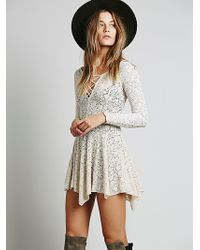 Free People Juliet Lattice Fit and Flare Slip - Lyst