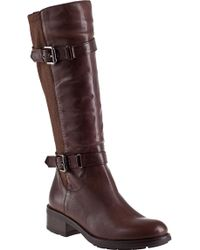 Aquatalia by Marvin K Starry Riding Boot Brown Leather - Lyst