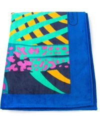 Ferragamo Tropical Print Towel - Lyst