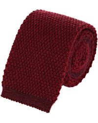 Luciano Barbera - Cashmere Knit Square Necktie - Lyst