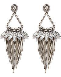 Forever 21 Chained Chandelier Earrings Lyst