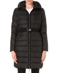 Moncler Classic Quilted Coat Black - Lyst