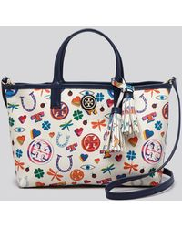 Tory Burch Crossbody - Kerrington Luck Print Shopper - Lyst