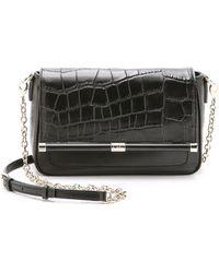 Diane von Furstenberg Embossed Croc Shoulder Bag - White - Lyst