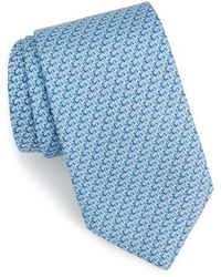 Vineyard Vines 'hummingbird' Print Silk Tie - Blue