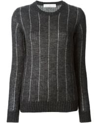 Golden Goose Deluxe Brand Gray Striped Sweater - Lyst