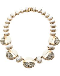 Lulu Frost Stone-Crystal Disk Necklace - Lyst