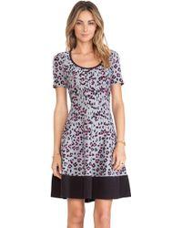 Kate Spade Cyber Cheetah Sweater Dress - Lyst