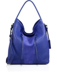 Linea Pelle - Gianna Topstitched Leather Hobo Bag - Lyst