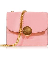 Marc Jacobs Mini Trouble Baby Pink Suede Shoulder Bag - Lyst