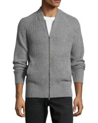 Ag Adriano Goldschmied Knit Front Zip Cardigan - Lyst