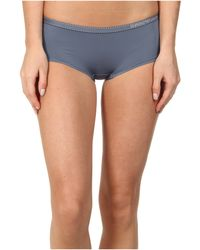 Emporio Armani Minimal Perfection Light Solid Microfiber Cheeky Pants - Lyst