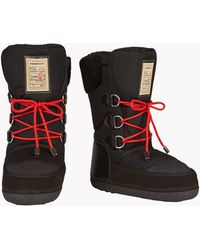 DSquared² | Duck Leather and Wool Snow Boots | Lyst