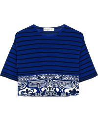 Emilio Pucci Cropped Knitted Top - Lyst