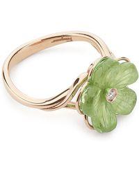 Ferragamo Flower Ring - Lyst