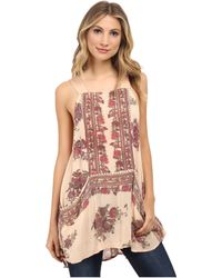 Free People Paradise Song Printed Tunic multicolor - Lyst