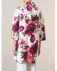 Isola Marras - Floral-Print Cotton Coat - Lyst