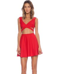 Mink Pink Wrapped Up Dress - Lyst