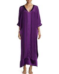 Donna Karan New York Long Glamour Silk Caftan - Lyst