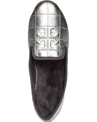Tory Burch | Cowley Leather Slippers | Lyst
