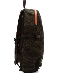 Rag & Bone Olive Camo And Black Suede Porter Edition Backpack - Lyst