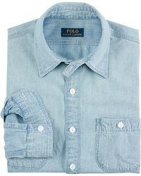 Polo Ralph Lauren Indigo Workshirt - Lyst