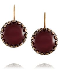 Isabel Marant Hiro Brass Cabochon Earrings - Lyst