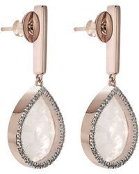 Monica Vinader - Rose Diva Lotus Drop Earrings - Lyst