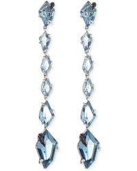 Alexis Bittar Fine - Midnight Quartz Linear Kite Drop Earrings - Lyst
