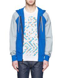 Marc Jacobs | Contrast Raglan Sleeve Zip Front Hoodie | Lyst