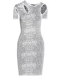 McQ by Alexander McQueen Stretch Jacquard-Knit Dress - Lyst