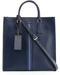 Prada Large Saffiano Travel Tote Bag - Lyst