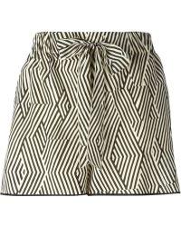 Forte Forte Argyle Pattern Draped Shorts - Lyst
