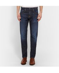 Ag Adriano Goldschmied Nomad Slim-Fit Rinsed Selvedge Denim Jeans - Lyst