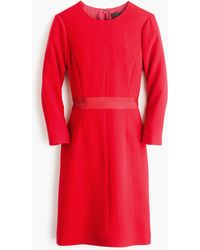 J.Crew | Double-faced Wool Crepe Dress | Lyst