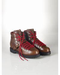 Polo Ralph Lauren Calfskin Jayden Boot brown - Lyst