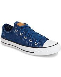 Converse Chuck Taylor All Star Woven Sneaker blue - Lyst