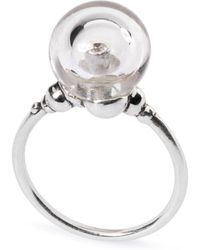 Trollbeads - Crystal Bubble Silver Ring - Lyst