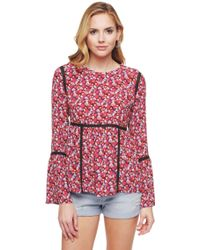 Juicy Couture | Marina Floral Blouse | Lyst