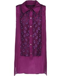 Giles Purple Sleeveless Shirt - Lyst