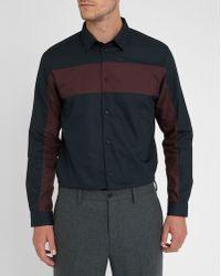 Carven | Navy/burgundy Geometric Shirt | Lyst